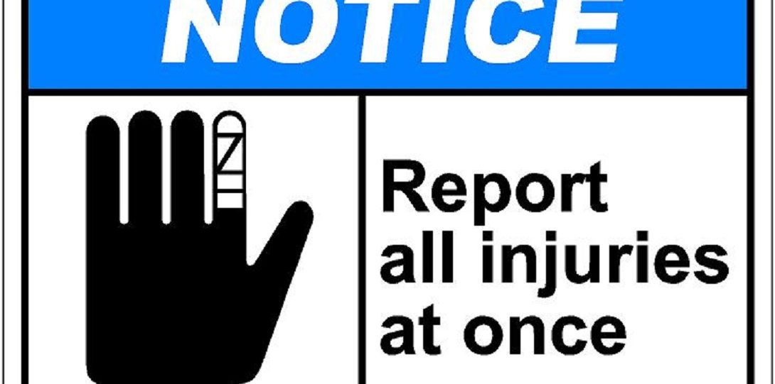 Report injury notice